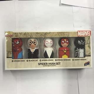 Bif Bang Pow! Pin Mate Spider-Man Wooden Figures Set of 5