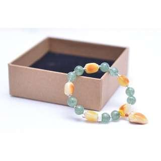Natural Yellow Mellite/Honeystone Bracelet蜜蜡手链