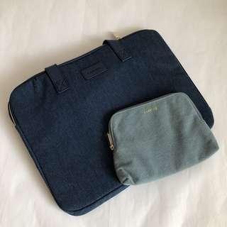 {NEW} LANEIGE laptop bag and toiletries bag (bundle)