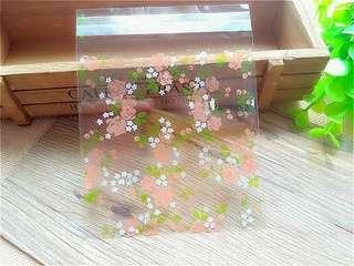 Roses design Self Adhesive Packaging Plastic Bag for Gift Snack Cookie Candy DIY Accessories
