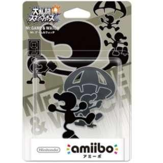 全新 NS Switch Amiibo: Mr.Game & Watch 大亂鬥系列 (日版) - 支援 Super Smash Bros Brothers