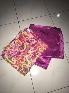 Kain pasang Satin (Pink) - 4 metres | Satin fabric 2 pieces, 2 metre each