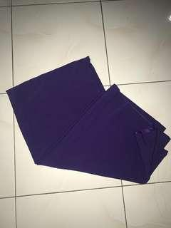 Kain pasang Satin - 4 metres (Dark Purple)