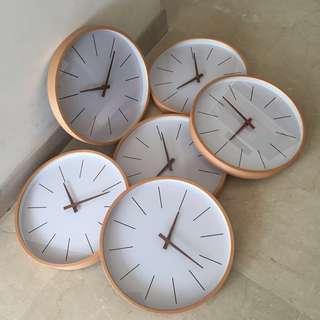Muji Minimalist Wooden Clock