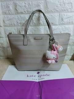 authentic kate spade tote bag glittery gray not mk,coach ,dkny,lacoste