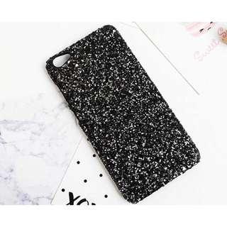 Case iphone 7 dan iphone 8 Glitter black