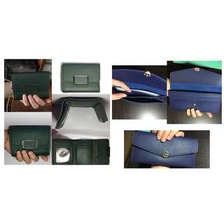 BUNDLE BRAND NEW long wallet short wallet envelope wallet card wallet trifold wallet new wallet green wallet blue wallet