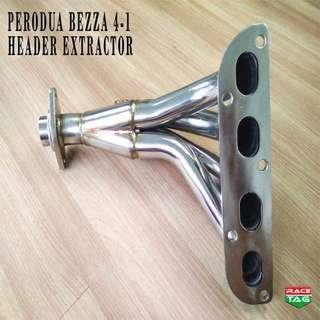 PERODUA BEZZA 4-1 HEADER EXTRACTOR EXHAUST