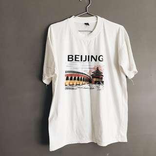 """Oversized """"Beijing"""" Graphic Tee"""