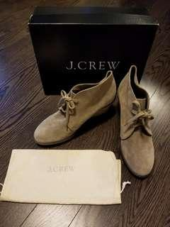 J Crew Suede Wedge Boots