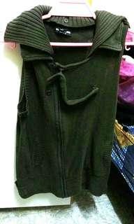 墨綠色 背心 外套
