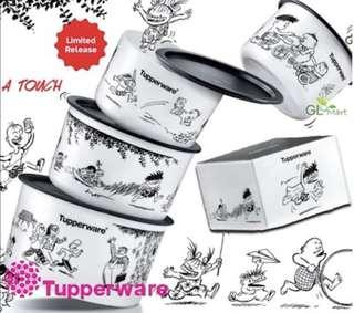 Tupperware (Lat the Kampung Boy) One Touch Topper Collection Gift Set