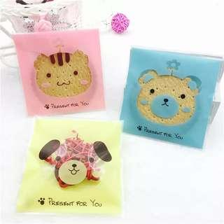 Cat Bear and Puppy design Self Adhesive Packaging Plastic Bag for Gift Snack DIY Accessories