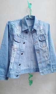 JUAL RUGI!! Ripped Jeans Jacket