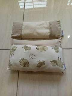 Used Babylove organic bean sprout pillow + baby pillow