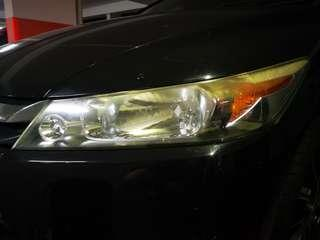Honda stream headlight restoration
