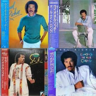 """vinyl LP lionel richie 4 record set all with obi and inserts can't slow down sela 12"""" dancing on the ceiling self titled debut"""
