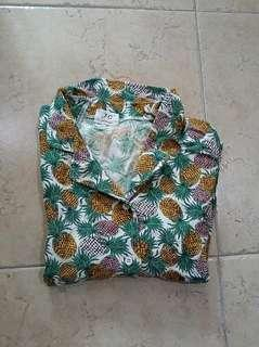 Pineapple short sleeved button up