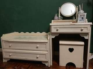Dressing Table w/ Stool & Bench