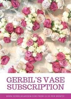 Flower arrangements - Monthly Vase Subscription
