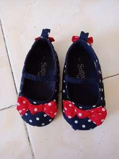cute polka dot doll shoes for babies 0-12mos
