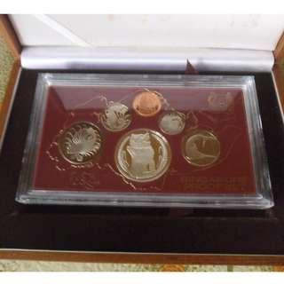 1984 Singapore Proof Coin Set ,.