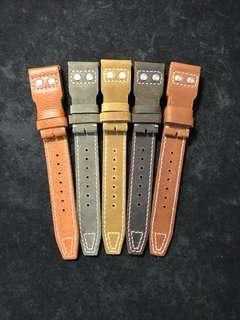 Buy 1 Free 1 Clearance Sale!!! 22/18mm Calf Leather Straps for IWC Big Pilot Models