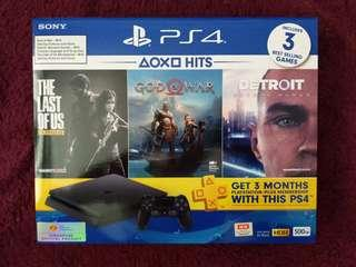 PS4 Slim 500GB The Hits Bundle *FREE Same Day Delivery (New)