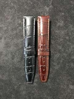 Buy 1 Free 1 Clearance Sale !!! 20/18mm Alligator Embossed Calf Leather Straps