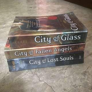 City of Glass, City of Fallen Angels, City of Lost Souls by Cassandra Clare
