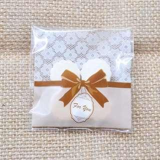 Brown ribbon For you design Self Adhesive Packaging Plastic Bag for Gift Snack Cookie Candy DIY Accessories