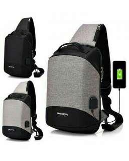 USB CHEST SLING BAG / CHEST POUCH BAG