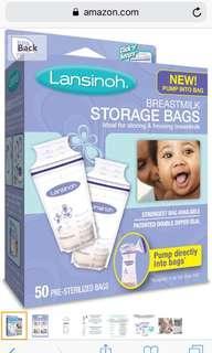 Lansinoh Breastmilk Storage Bags (2 packs-$18 each)