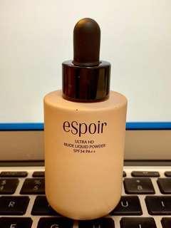 韓國 Espoir 滴管裸感透薄粉底 Ultra HD Nude Liquid Powder SPF34 PA++ 25ml