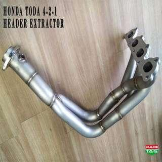 HONDA B SERIES 4-2-1 TODA DESIGN HEADER EXTRACTOR EXHAUST
