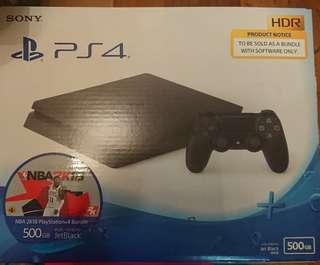 Playstation 4 + NBA2K18 + dualshock4 wireless controller