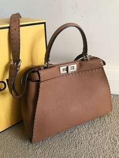 Fendi Peekaboo in selleria leather