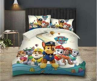 Xmas Sale - Paw Patrol Bedsheet with Comforter