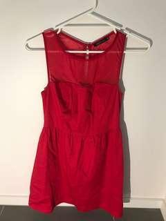 Portmans red mini dress