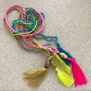 Bright beaded Necklaces