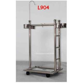 Stainless Steel Parrot Stand with Ladder