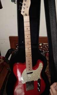 gitar fender kustom merah/electric guitar