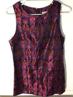 Retro patterned mini dress