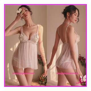 Sexy Lingerie Sleepwear Costume Nightwear Cosplay Baju Tidur Pajamas TS1104 White