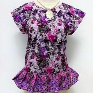 Atasan Batik ungu
