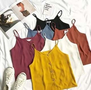 [po] tumblr basic mini strap vest top