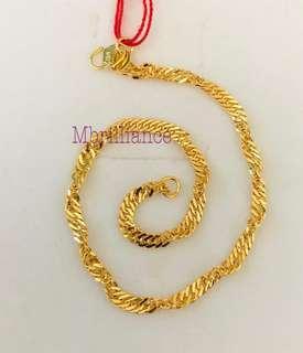 Twist bracelet  916 Yellow Gold by Mbrilliance