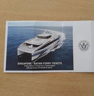 Singapore - Batam Ferry Ticket