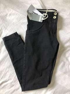 Freddy jeans mid waist 7/8 wr.up pants black size s