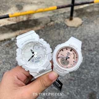 ❤️ Casio G Shock & Baby-G G-Squad Bluetooth Couple Set Watch GBA-800-7 BSA-B100MF-7
